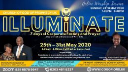 Corporate Prayer and Fasting: 25th - 31st May 2020